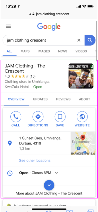 Google Search - JAM Clothing