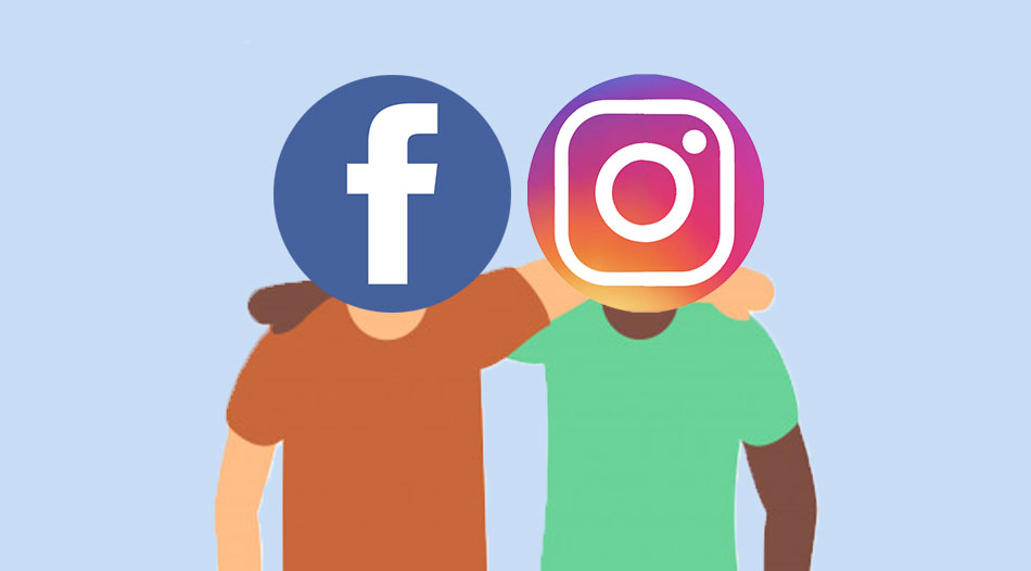 Facebook and Instagram Friends and Working Together